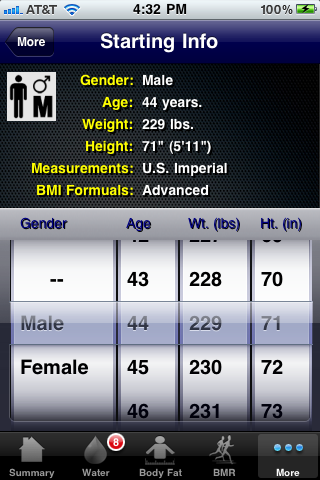 BMI Calc. Screenshot