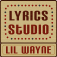 Lil Wayne Lyrics Studio Icon
