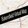 Bakersfield, California Virtual Map Icon