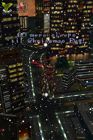 Santa in the City 3D Christmas Game + Countdown Screenshot