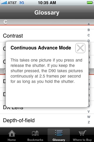 Nikon D90 Guide Screenshot