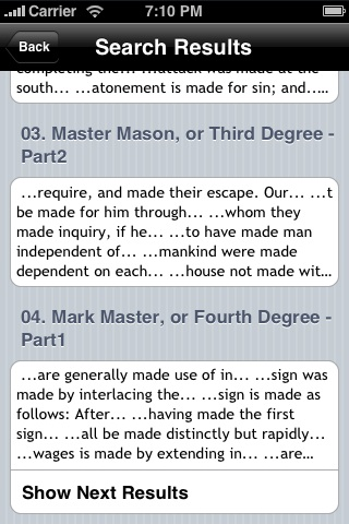 Duncan's Masonic Ritual and Monitor by Malcolm C. Duncan Screenshot