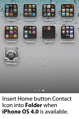 OneTouch Home Button Contact Creator – Most Convenient way to Dial/SMS/E-mail Screenshot