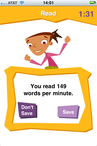 Image of K12 Timed Reading Practice Lite for iPhone