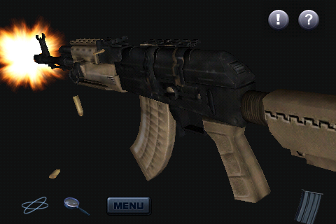 A MW2 Assault Rifle 3D Screenshot