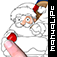 coloring book: Merry Christmas Icon