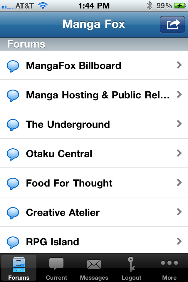 Image of Manga Fox for iPhone