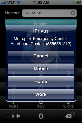iPrivus Caller Name Lookup (Introductory Month) Screenshot