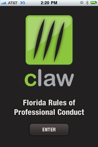 CLaw – Florida Rules of Professional Conduct Screenshot