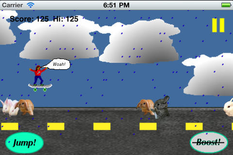 Bunny Jumper LITE Screenshot