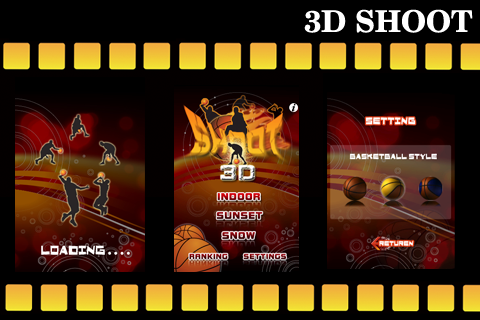 A 3D FIRE BASKETBALL-AWESOME SHOOT Screenshot
