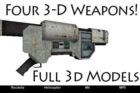 3d Weapons – 4 Full 3d Models, M4, MP5 Guns, Rocket Launcher, Attack Helicopter Screenshot