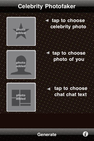 Celebrity PhotoFaker FREE free app s=creenshot 1
