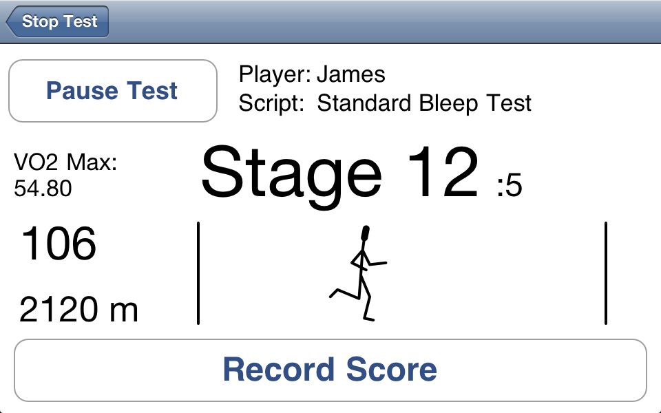 Image of Bleep Test Solo for iPhone