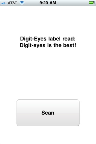 Digit-Eyes Audio Scanner and Labeler Screenshot