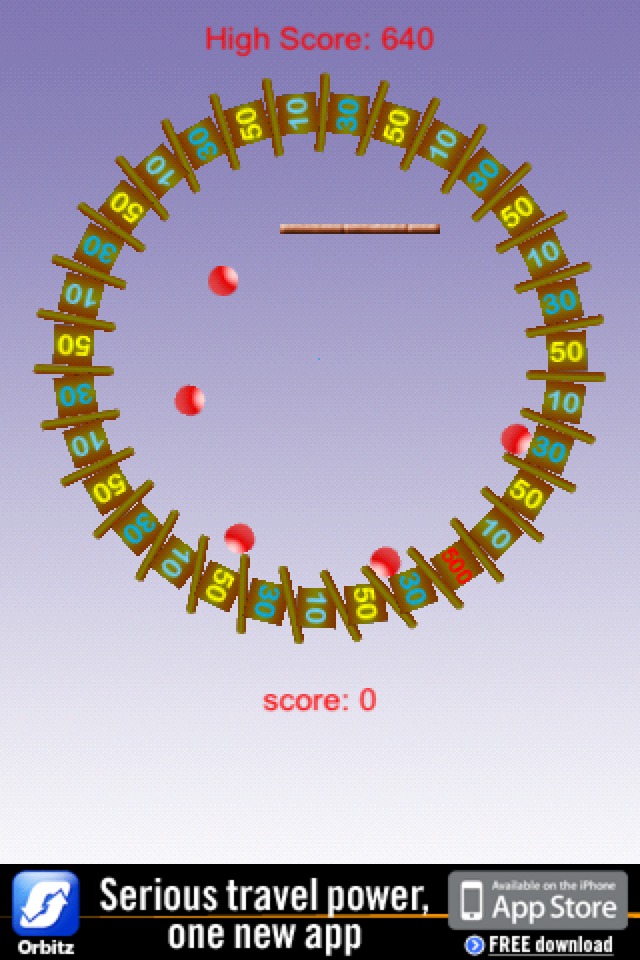 Screenshot Falling Ball Spin