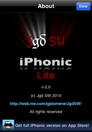 Image of iPhonic Lite for iPhone