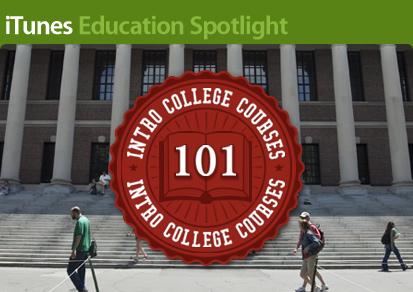 iTunes Education Spotlight: Intro College Courses