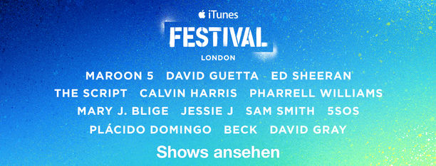 iTunes Festival: London, Shows ansehen