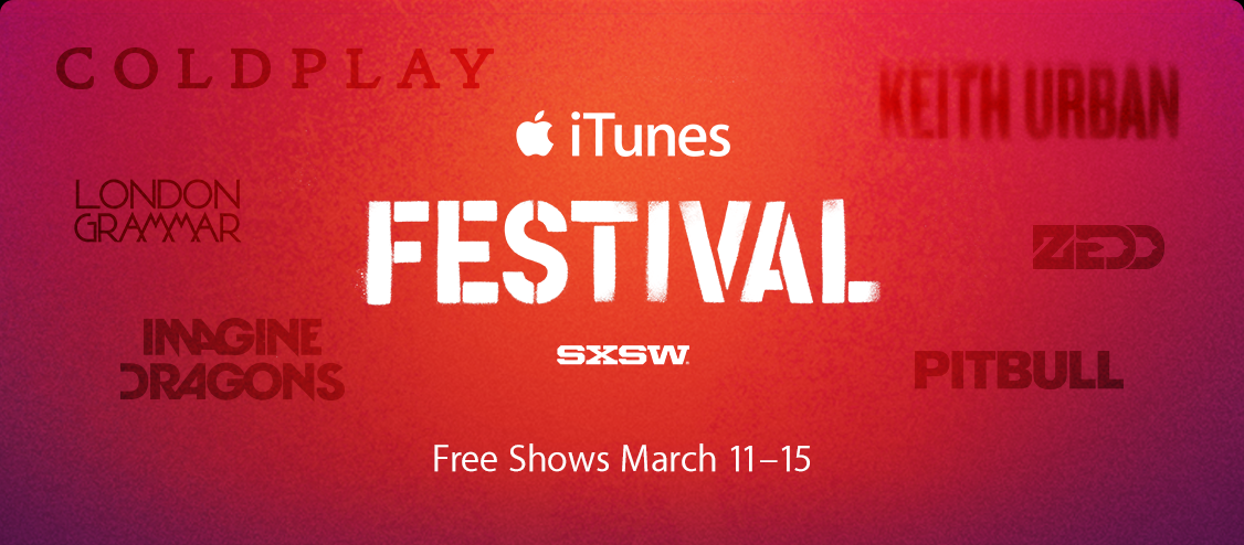 iTunes Festival at SXSW: Free Shows March 11-15