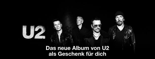 U2: Das neue Album von U2 als Geschenk für dich