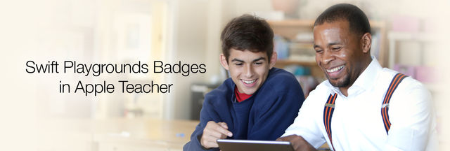 Swift Playgrounds Badges in Apple Teacher
